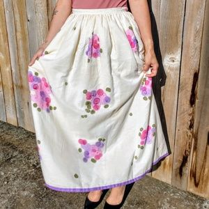 Vintage William Pearson Hand painted Skirt Size 6